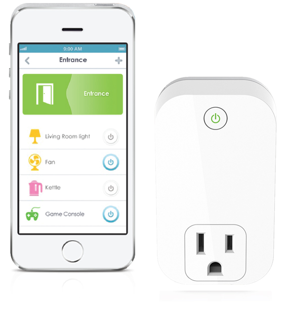 Give Mom peace of mind with this gadget that can turn OFF a plugged in device at home remotely. Never fret over leaving an iron, hair dryer, flat iron or coffee maker on at home again. The Smart Plug allows users to turn devices on and off with...