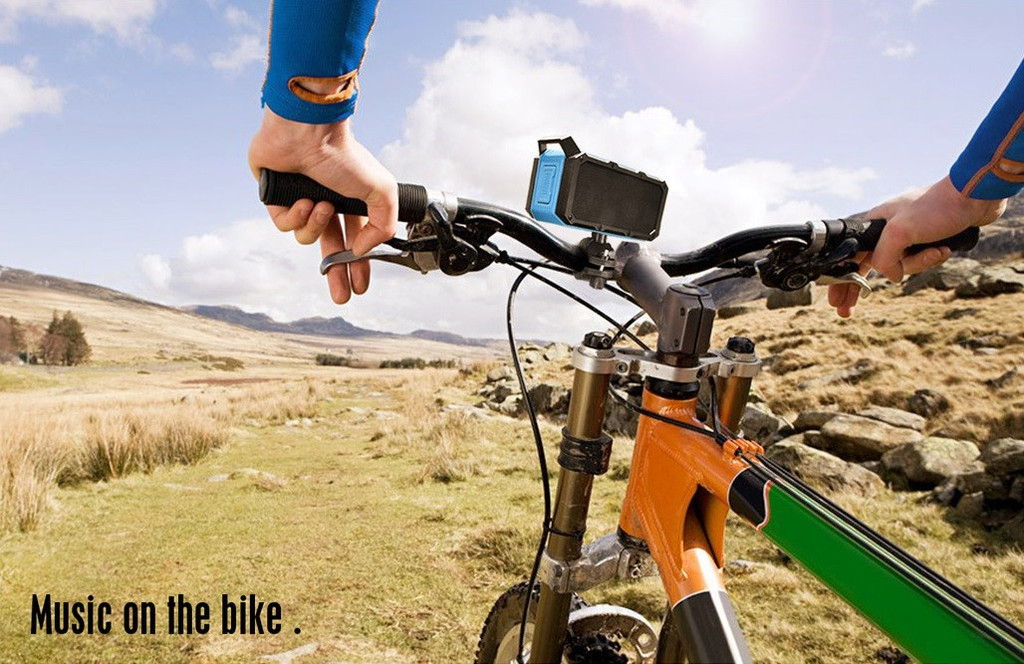 Help get the kids into that bike ride with this Bluetooth speaker that mounts on the handlebars.   The Divoom: Voombox-Ongo is lightweight and weather resistant. $60 Divoom.com