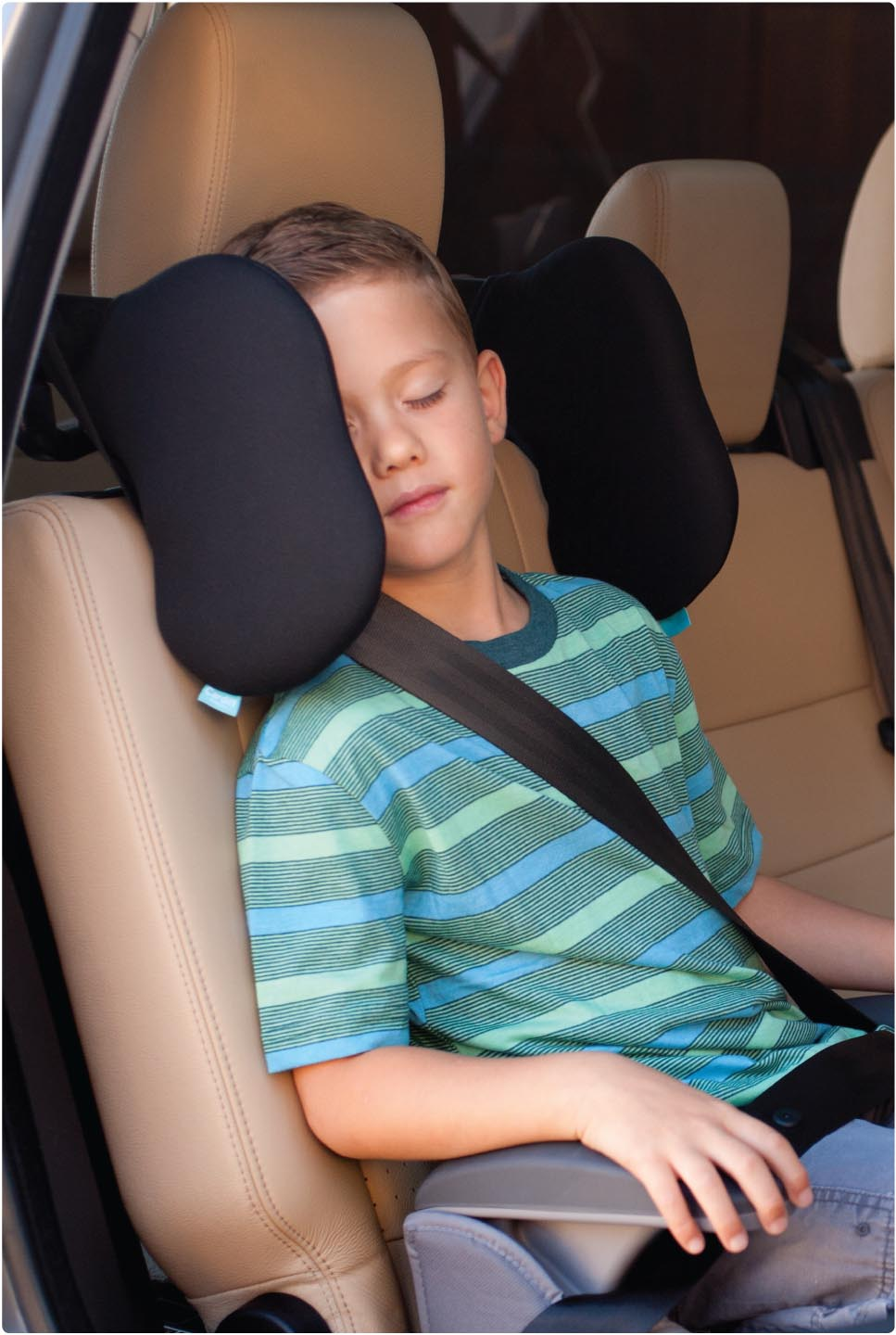"""Nothing scarier then that weird head drooping thing that happens when the kid falls asleep in the back seat. It looks like their head will snap off if you brake to fast! This device eliminates """"scary head dropping syndrome"""". Adjusts to meet..."""