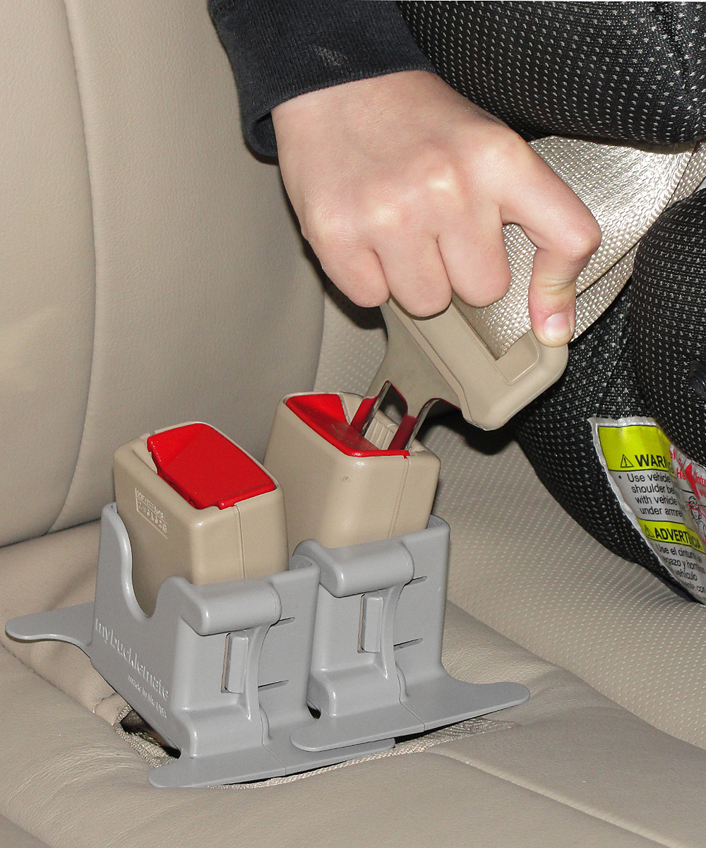 Another great product to make Mom's life easier when dealing with the car.  Messing with the seat belts with car seats and booster seats can be a royal pain!   MyBuckleMate keeps back seat buckles propped up and easy to reach so buckling up is...