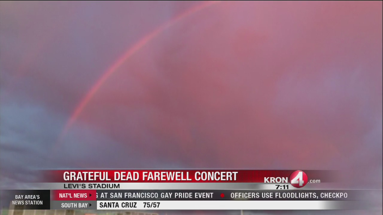 Grateful Dead Farewell Concert_Rainbow over stadium_187055