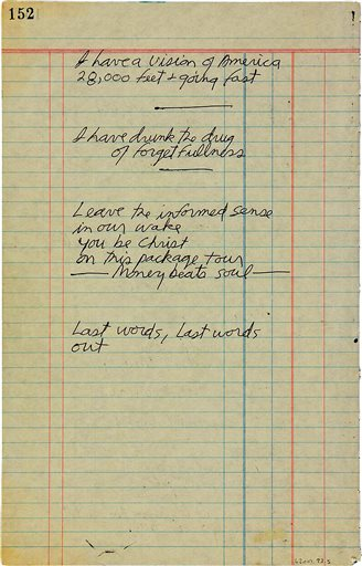 Jim Morrison Notebook Page-Auction_177758