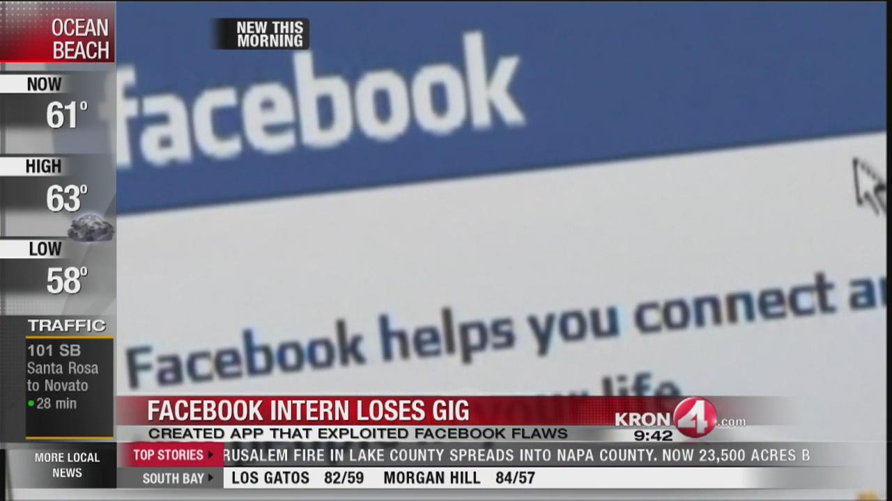 Harvard student loses Facebook internship