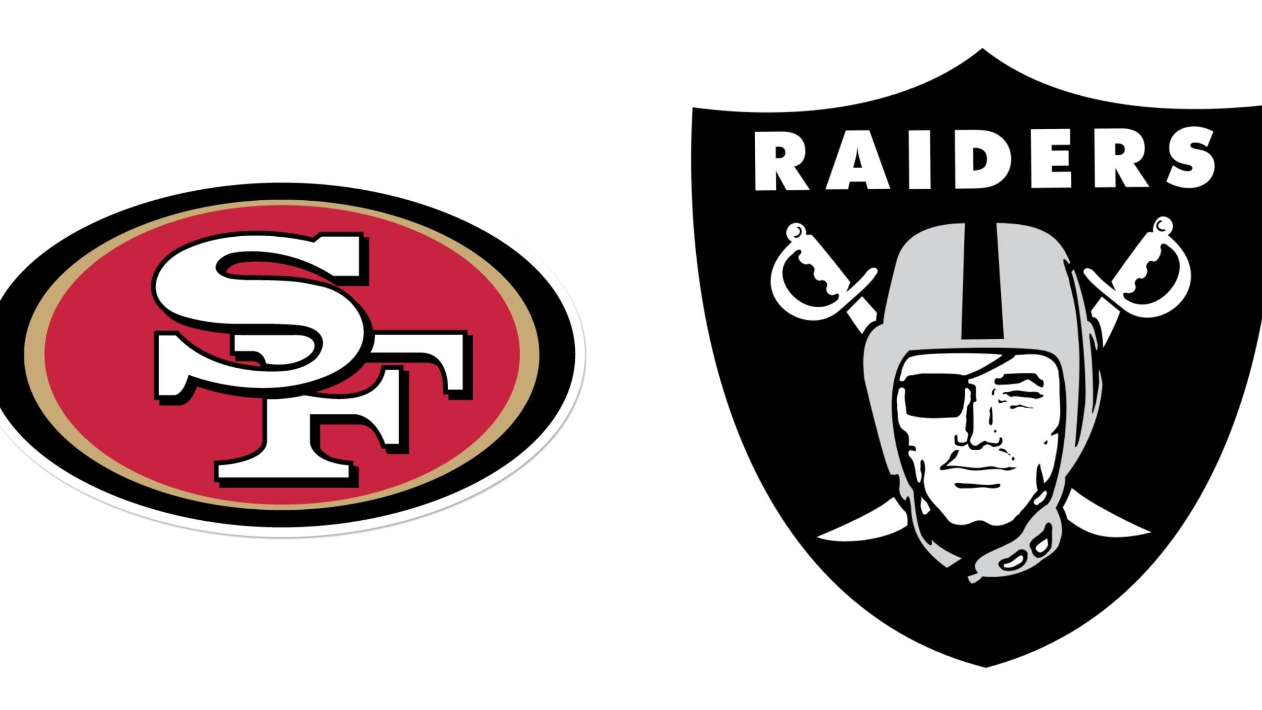 San Francisco 49ers Oakland Raiders Announce Regular Season 2016