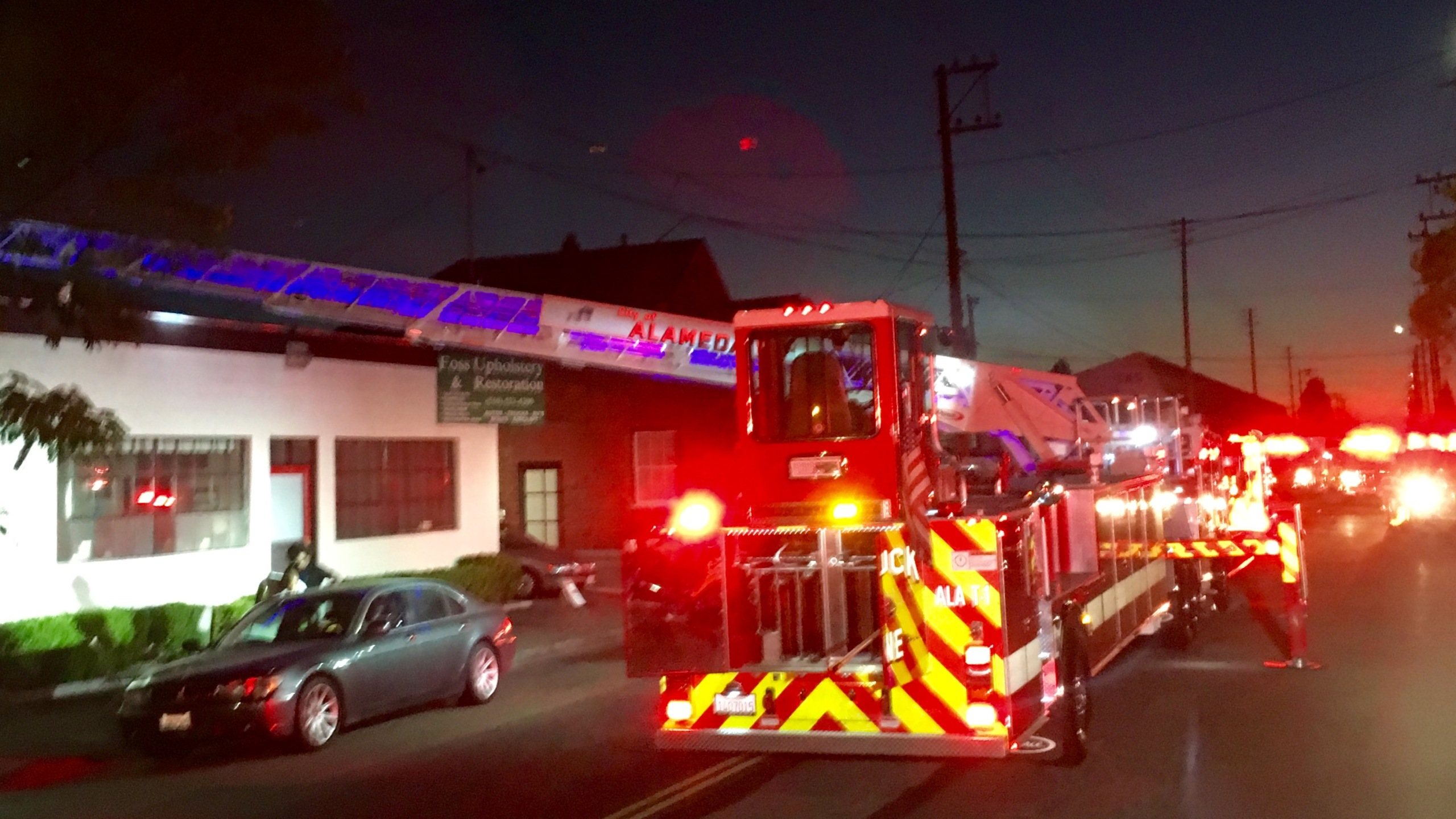 Alameda fire severely damages auto upholstery shop