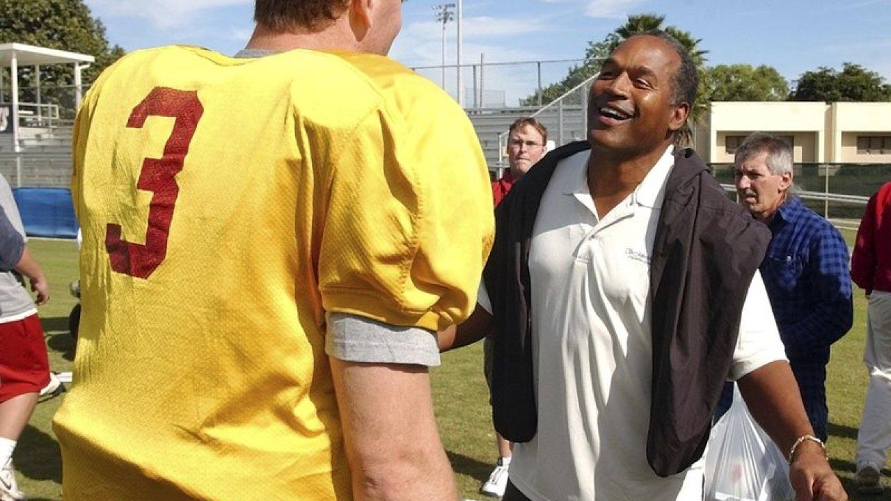 O.J. Simpsons friend wore a Heisman shirt while