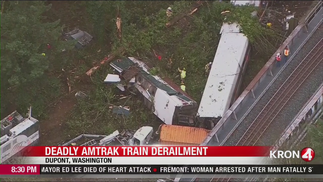 VIDEO: At least 6 people killed when Amtrak train derails