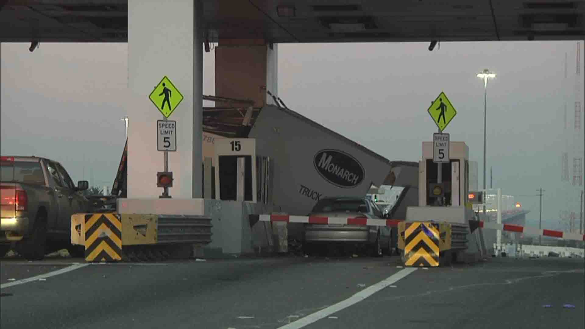 VIDEO: Toll taker dead after truck plows into Bay Bridge