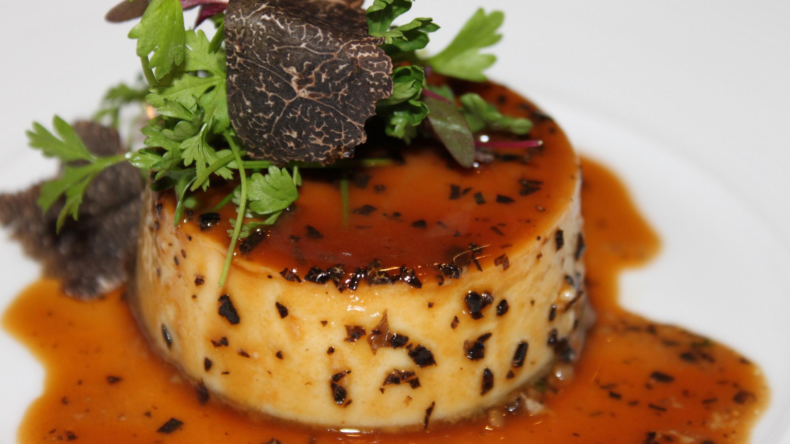 Bone marrow truffle flan_716845
