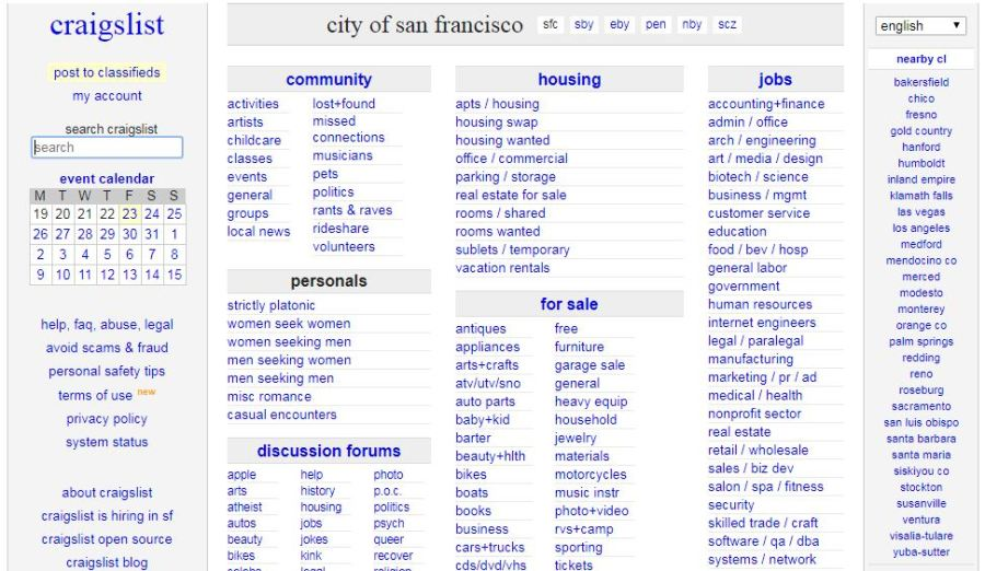 Craigslist Closes Personals Sections In Us Cites Measure