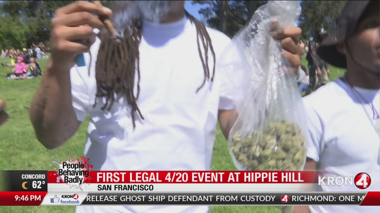 People Behaving Badly: First legal 420 at Hippie Hill