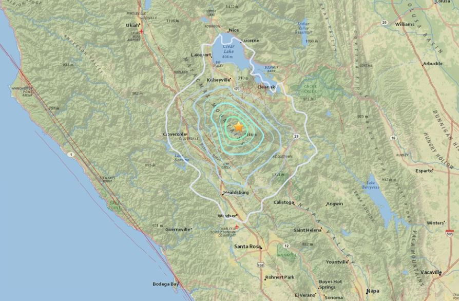 earthquake napa