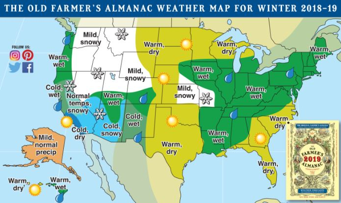 Farmer\'s Almanac predicts cold, wet winter for Northern ...