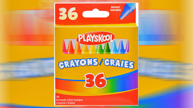 dollar store crayons