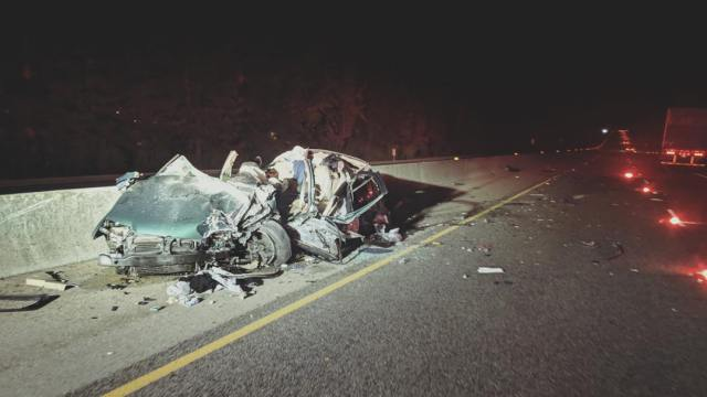 Shocking image shows aftermath of wrong-way driver crash on Highway 17
