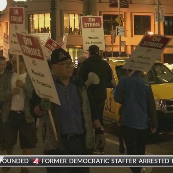 Marriott hotel workers go on strike in SF