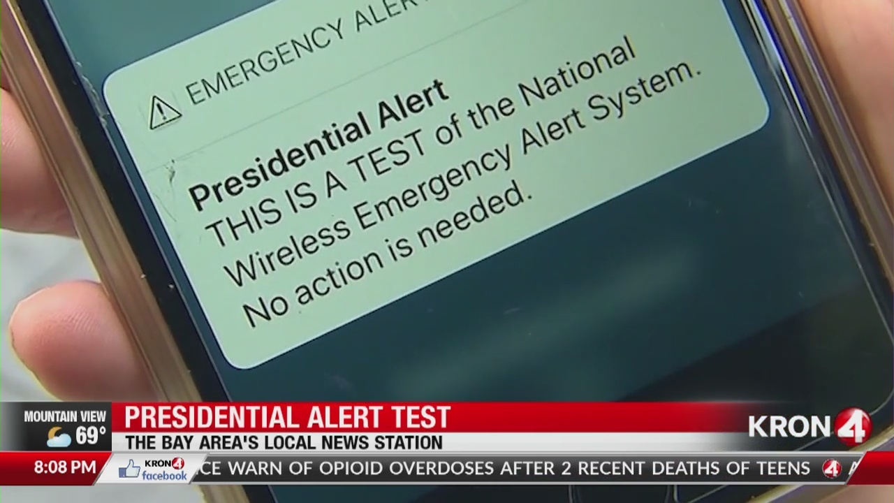 Emergency Presidential alert test happening today