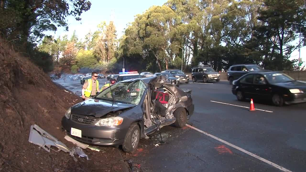 Woman who died after crashing into CHP car in Sausalito ID'd