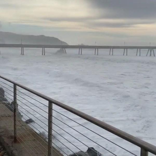 Dangerous surf conditions close Pacifica Pier