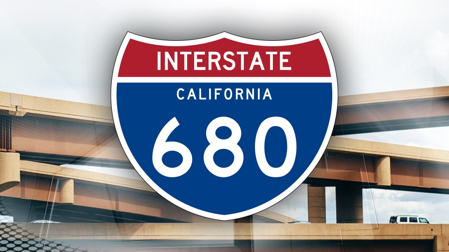 Severe traffic alert on SB I-680 in Fremont after accident