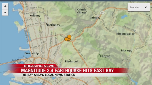 3 4-magnitude earthquake, 2 aftershocks rattle Bay Area