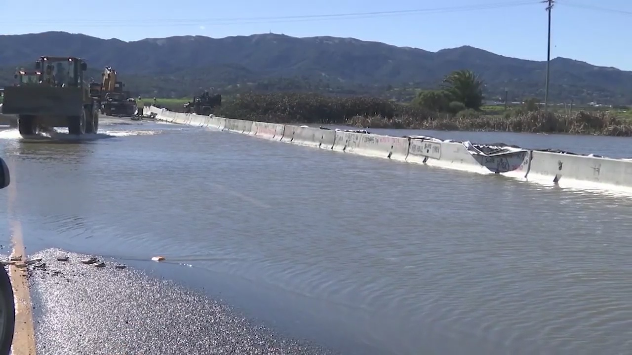 WB Hwy 37 in Novato remains closed as crews continue work on levee