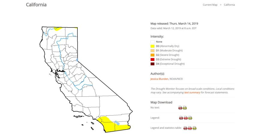 California is free of drought for 1st time since 2011