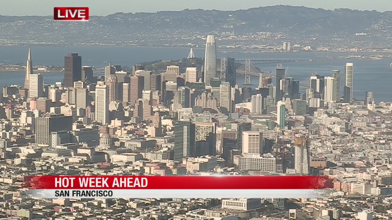 Bay Area to hit the 90's this week