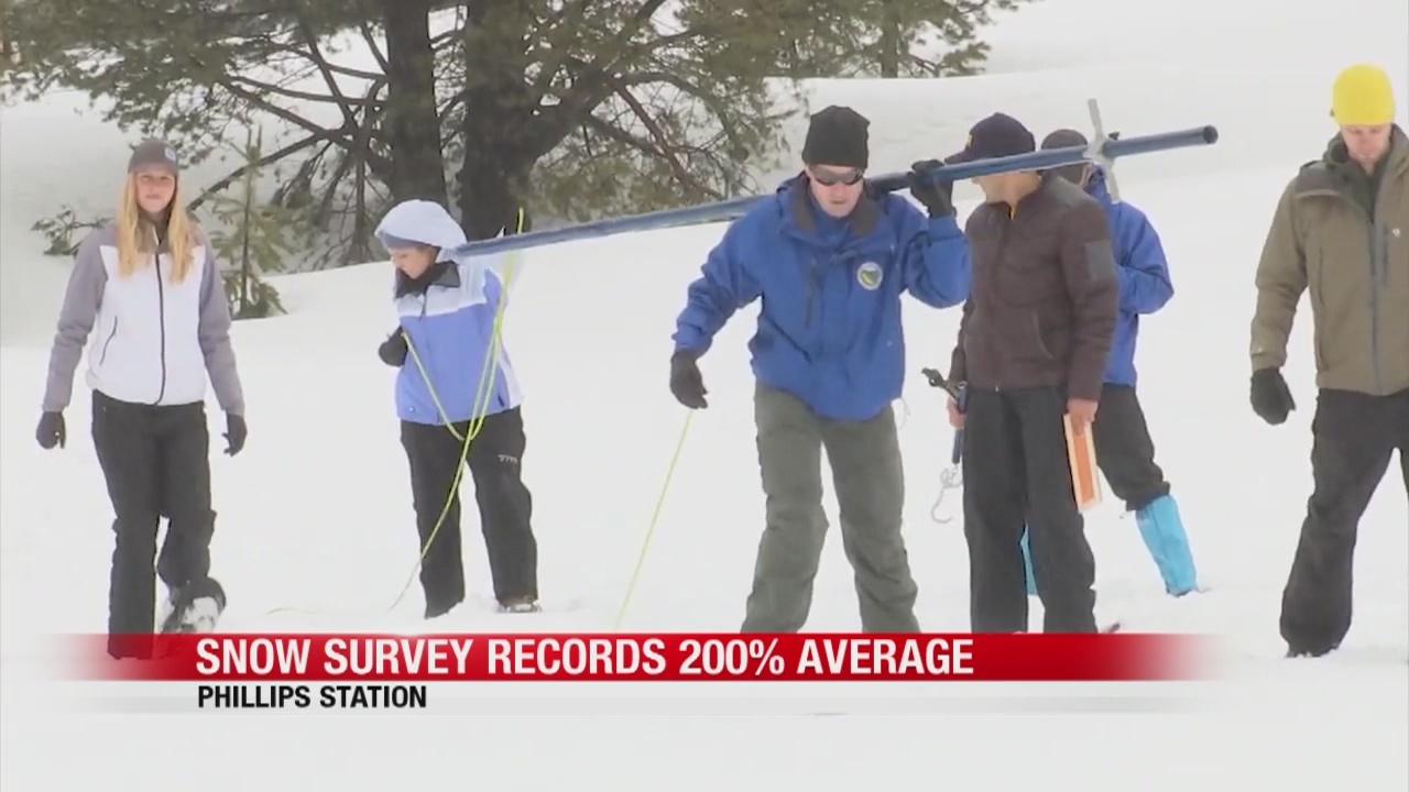 Snow survey records 200% average