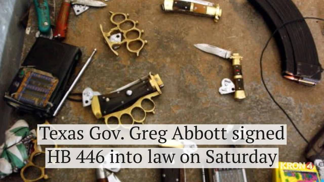 Brass knuckles legalized in Texas as 'self-defense'