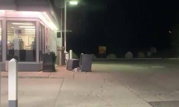 Deputy finds bear rummaging through trash
