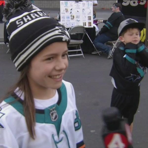 Fans at the Shark Tank in San Jose