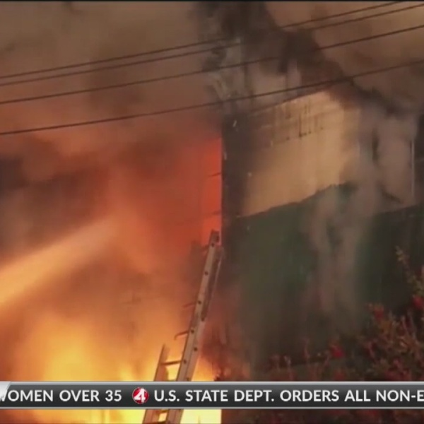 Ghost Ship Trial: Firefighter's helmet cam shows first moments of fire