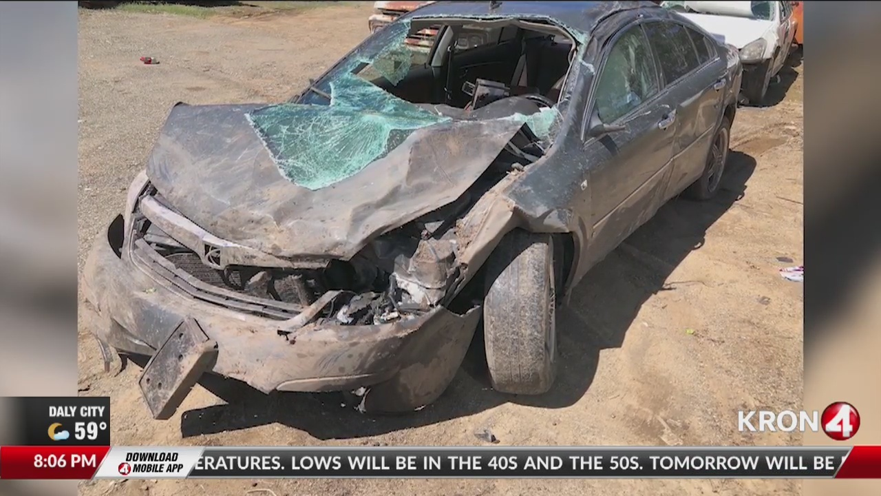 It's a miracle': Witness describes moments before car drove