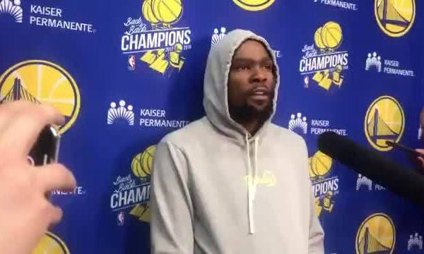 Kevin Durant on missing out on NBA Finals