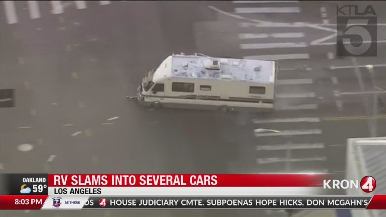 SEE IT: Police chase RV through Southern California streets