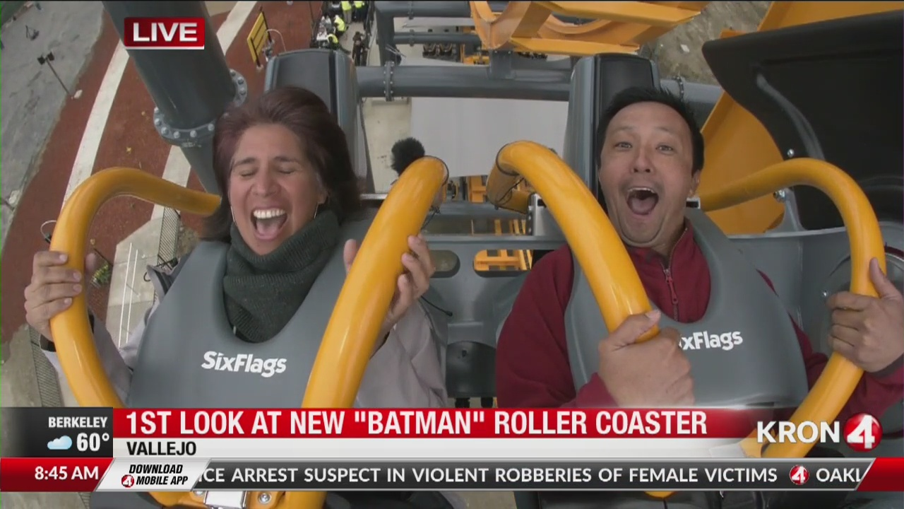 FIRST LOOK: Six Flags Vallejo debuts new 'Batman' roller coaster