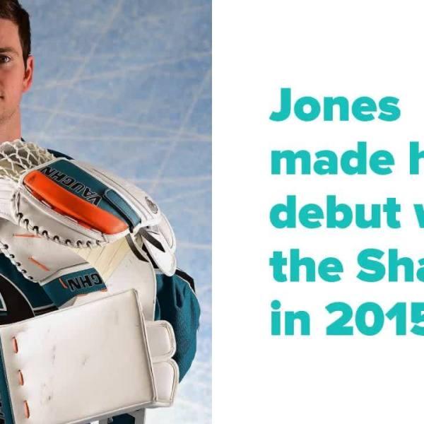 San Jose Sharks' goaltender Martin Jones