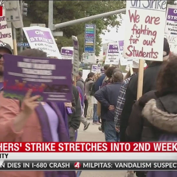 Teachers strike stretches into second week