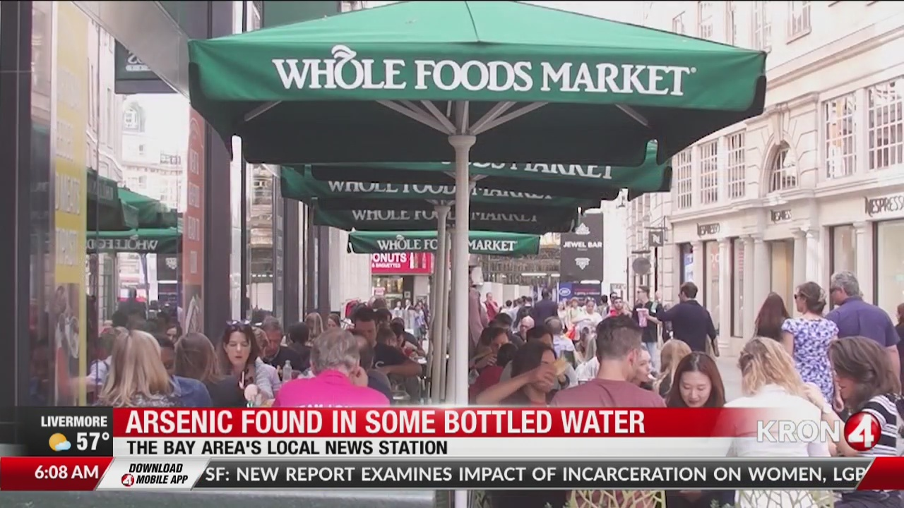 Arsenic found in bottled water at major grocery stores