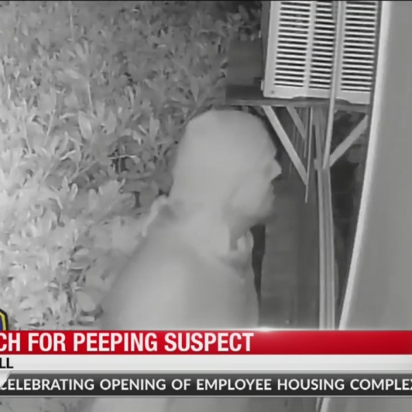 Campbell family terrified after video captures suspected 'peeping tom' at girl's window