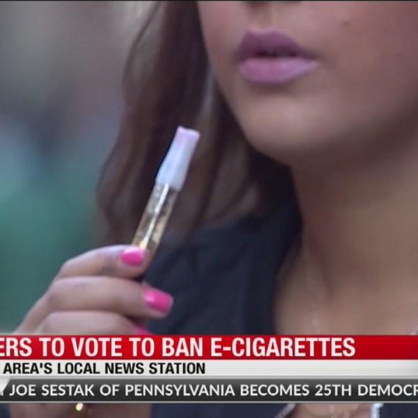 Leaders vote to ban e-cigarettes