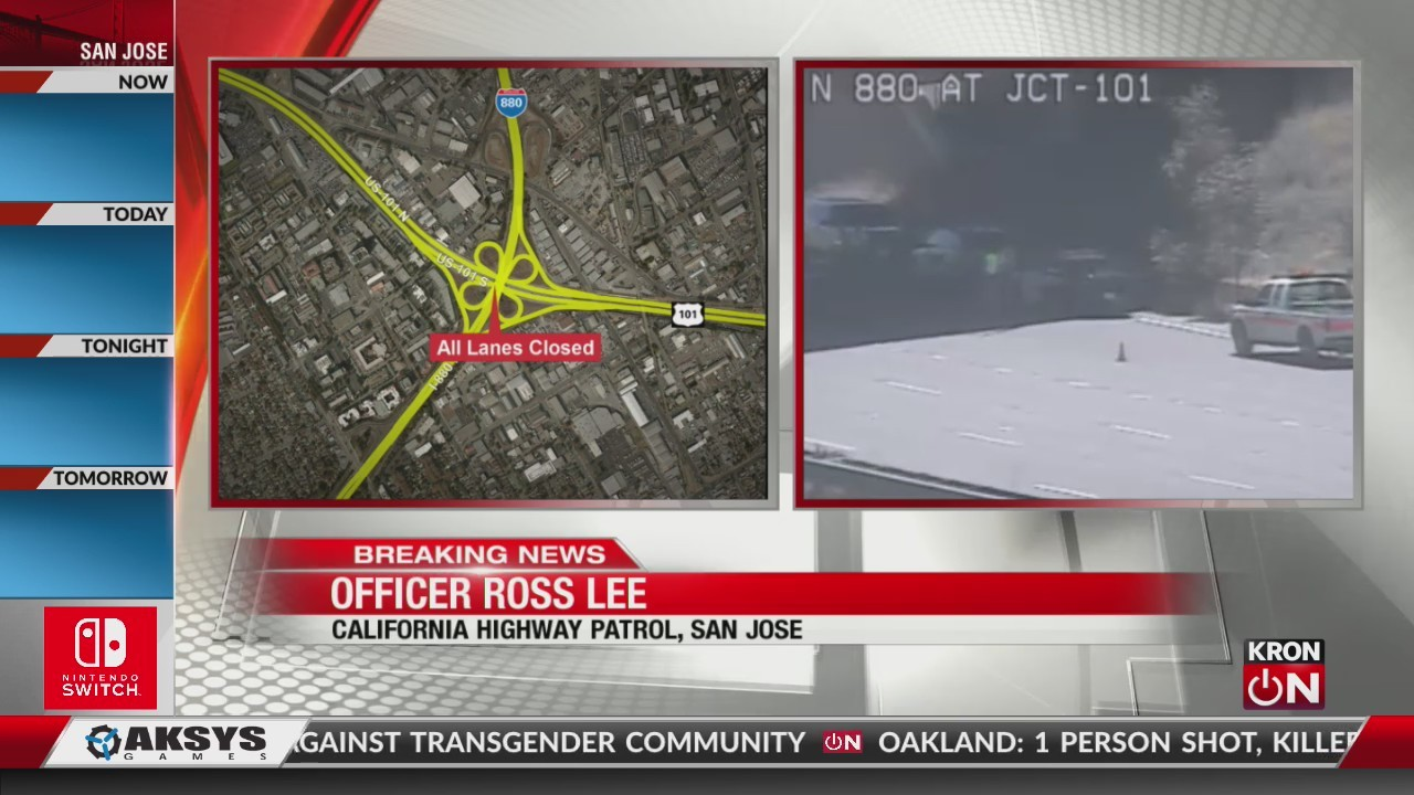 Man hit and killed on Hwy 101 after jumping from San Jose overpass
