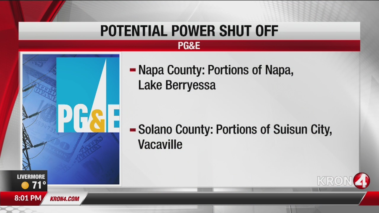 PG&E may shut off power in parts of North Bay due high fire danger
