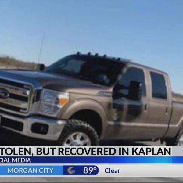 Stolen truck investigation in Kaplan