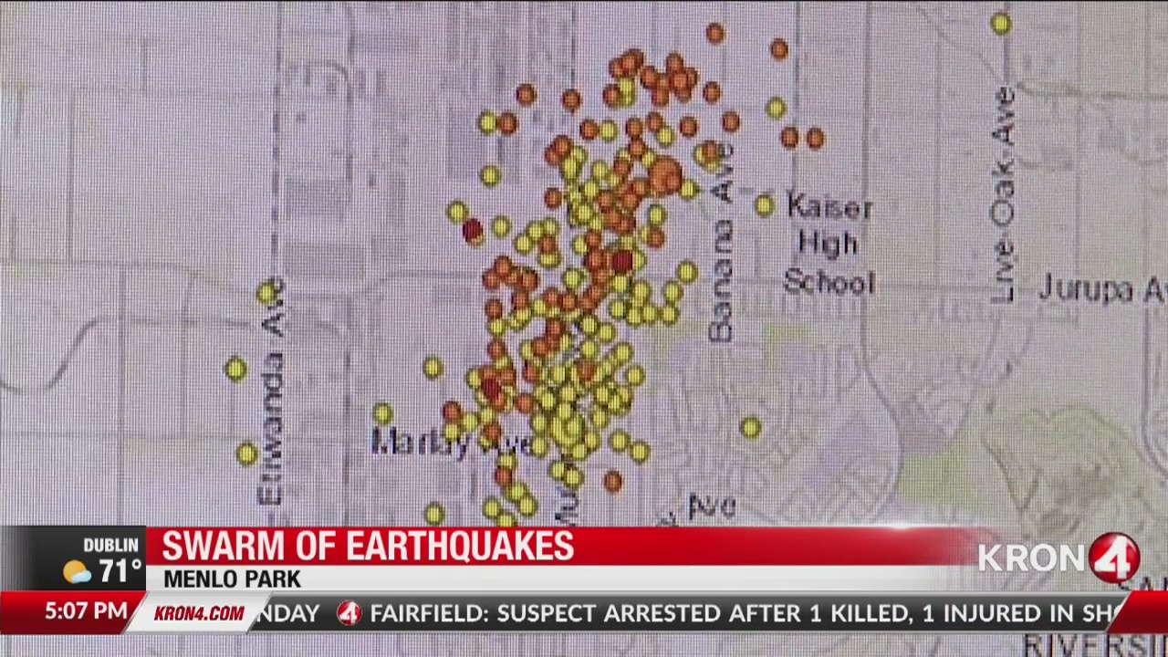 Swarm of earthquakes strike California