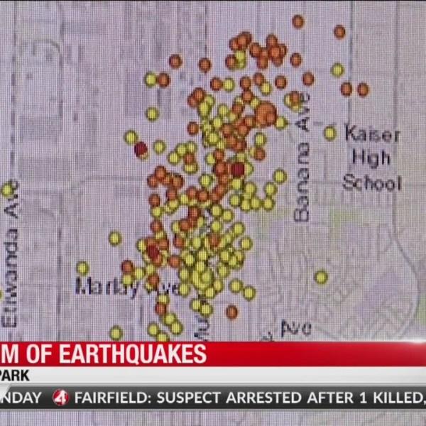 Swarm of earthquakes strike California