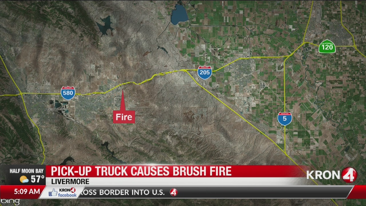 Truck causes brush fire in Livermore