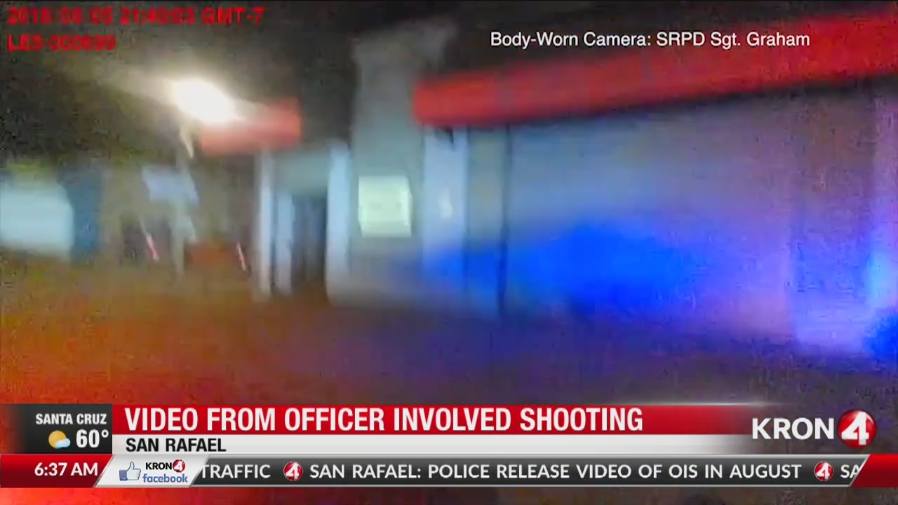 VIDEO: Body cam footage released of San Rafael police shooting