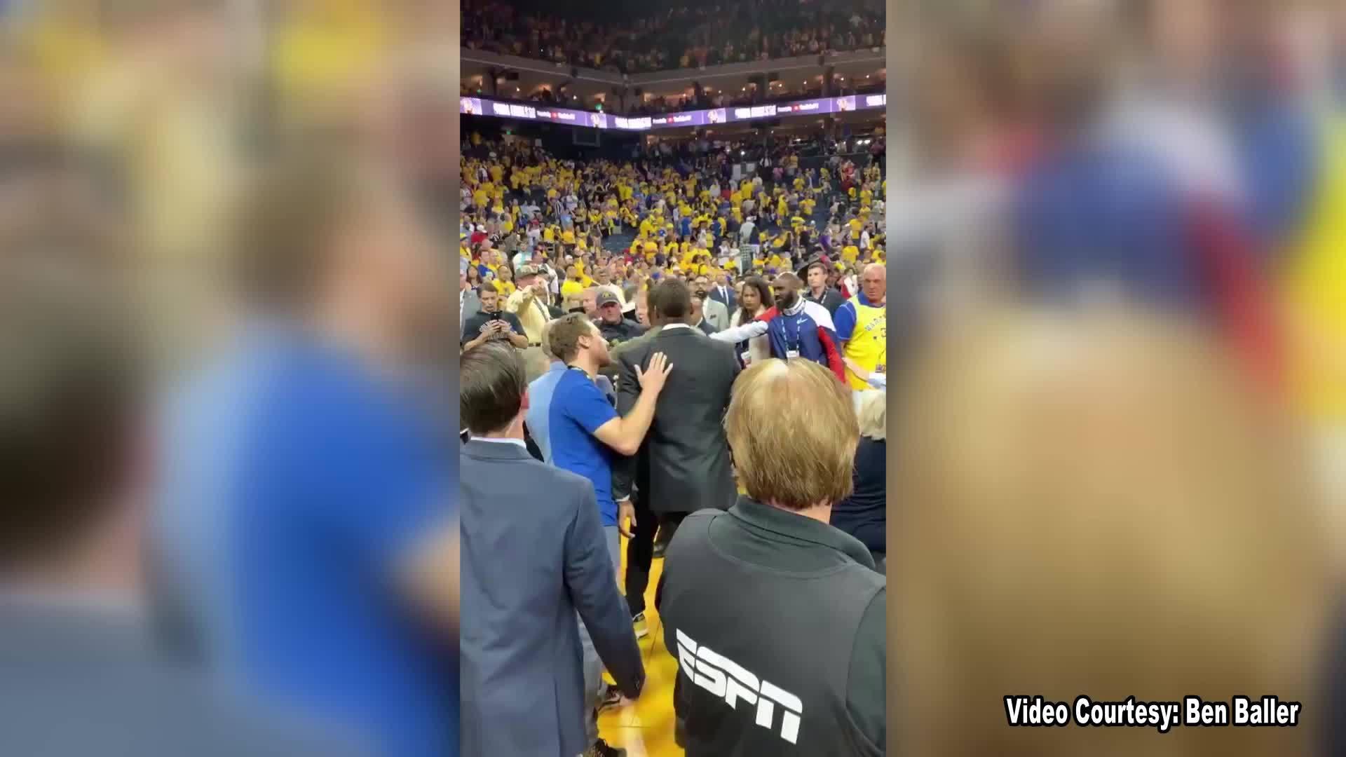 Video shows incident between Raptors exec, deputy at NBA Finals